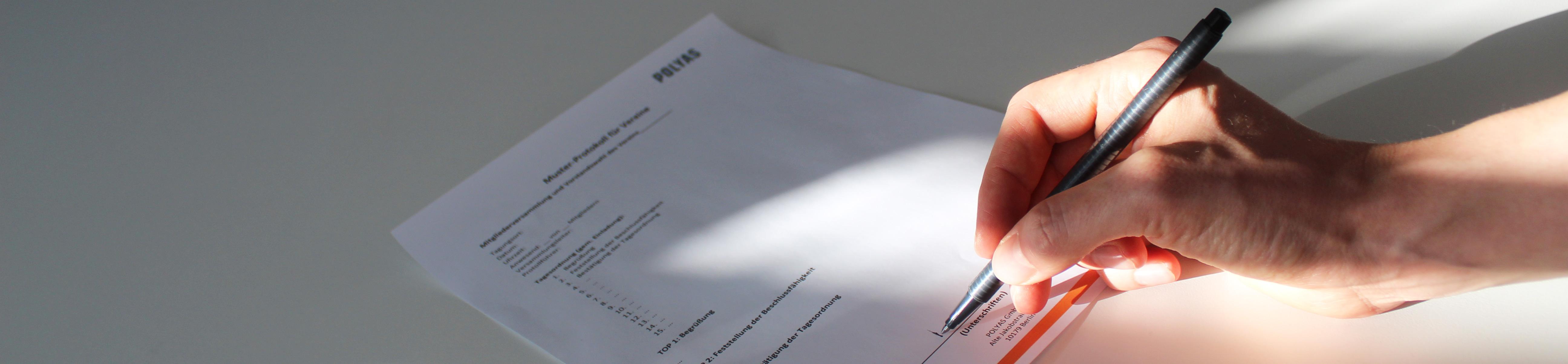 Muster Protokoll Vorstandswahl Verein