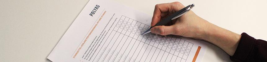 Stimmzettel-Vorlagen für die Vertreterwahl