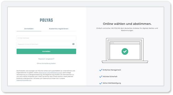 Online-Abstimmungen selbst einrichten: So registrieren Sie sich im POLYAS Online-Wahlmanager